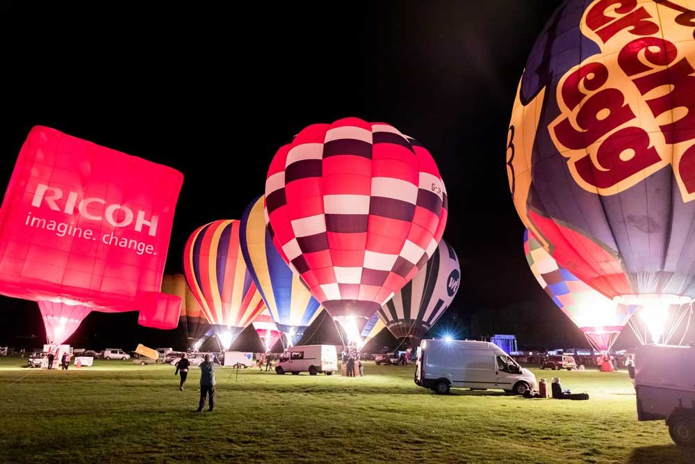 Night glow at York Balloon Fiesta 2019