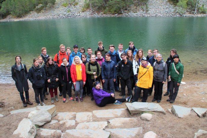 Delegates at Fairy Lochan
