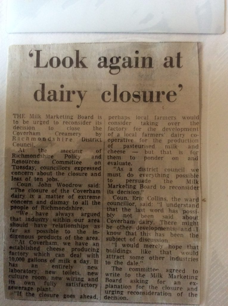 Clipping from an unknown newspaper. c1987. With thanks to Marjorie Iveson and Mrs Les Lambert