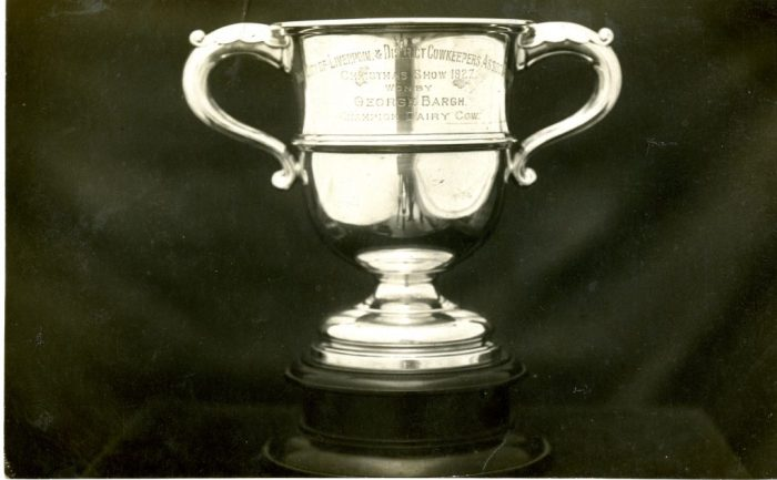 The City of Liverpool & District Cowkeepers Association Christmas Show 1927 won by George Bargh Champion Dairy Cow