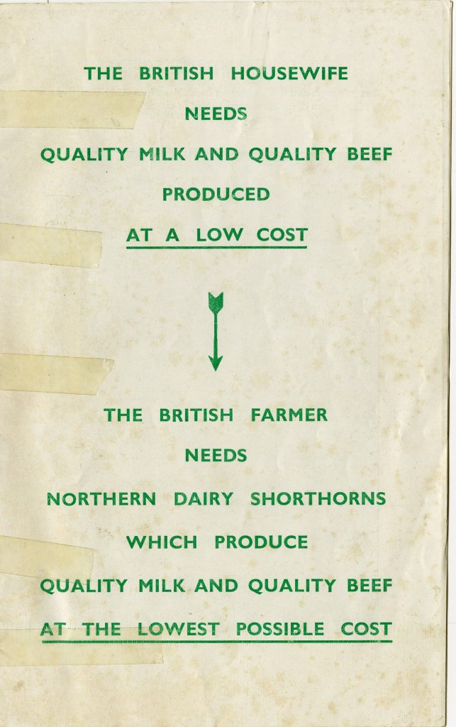 Northern Dairy Shorthorn promotional booklet. Courtesy of George Sledge