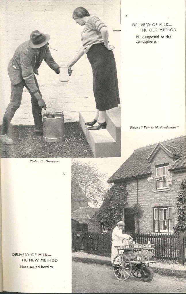 Doorstep milk delivery (from 'British Dairying' (1948) by Frank H Garner)