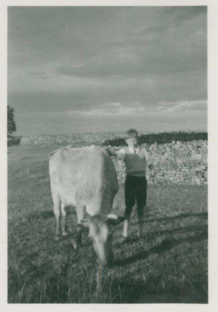 A young John Heseltine (Edith's brother) at Aysgarth. 1950s. Courtesy of Edith Pratt