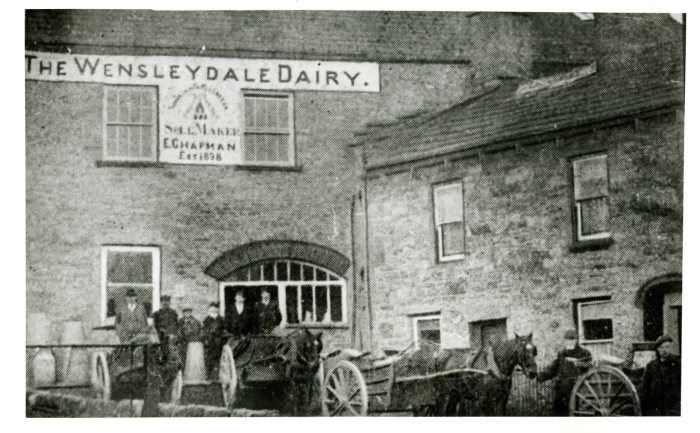 Site of the original Wensleydale Dairy in Hawes (from the Dales Countryside Museum collection)