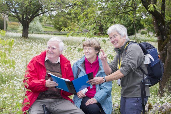On a guided walk through Threshfield Quarry
