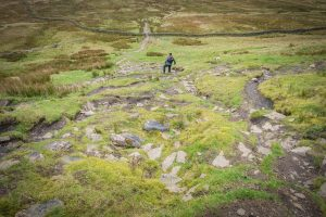 Loved to death: the eroded path coming off the summit of Whernside
