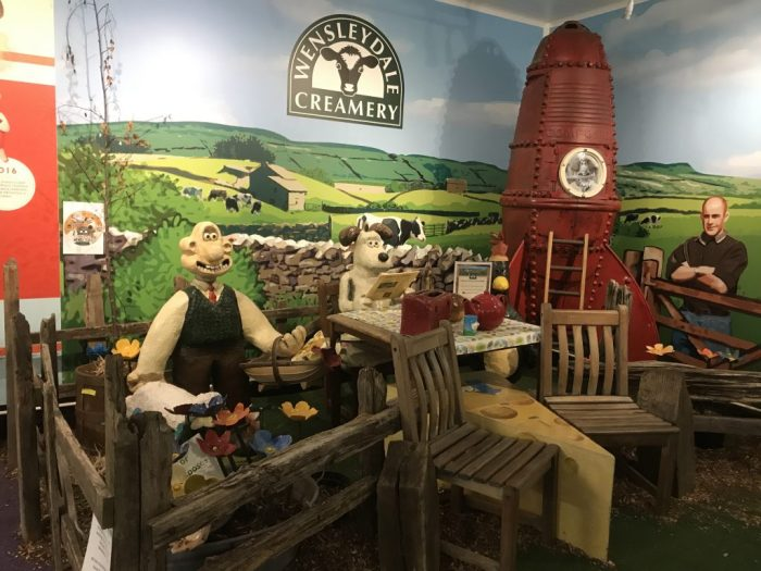 Wallace and Gromit models at the Wensleydale Creamery recently