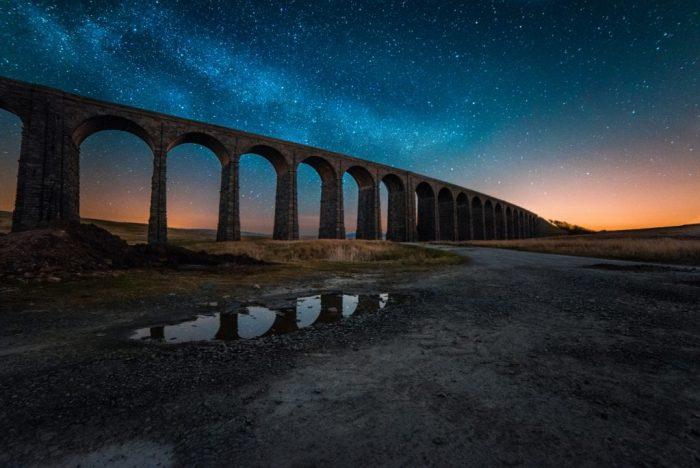 A stunning night sky over Ribblehead Viaduct