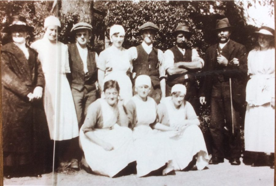 Staff and visitors at Coverham Dairy c1920. Courtesy of Valerie Slater