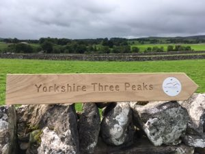 Maybe your own Yorkshire Three Peaks sign?