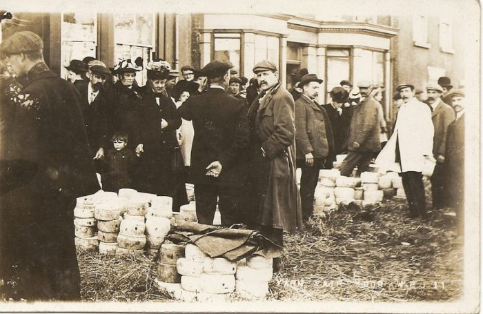 Yarm cheese fair 1908. Courtesy of Eleanor Scarr