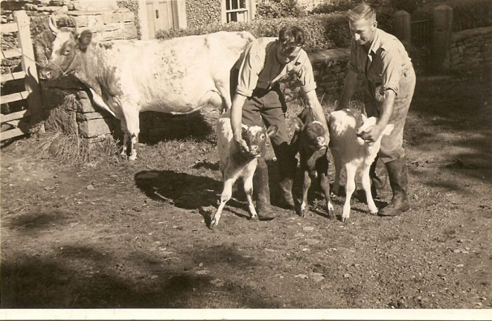 Triplets born in 1949 all living and are still a rare occasion. With Eleanor's father and uncle. Courtesy of Eleanor Scarr