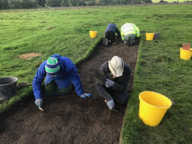 Day 2 trowelling the top soil