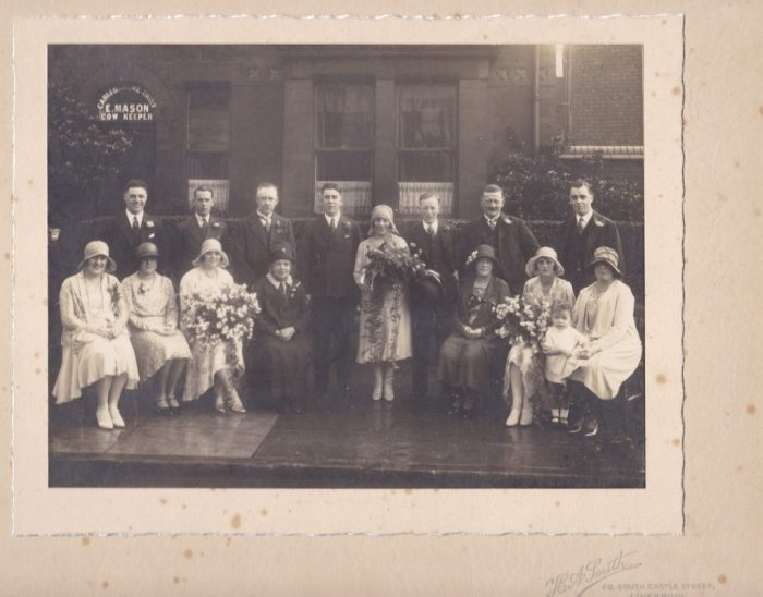 Wedding of Henry Pickup and Ethel Mason in 1931. Courtesy of Robert Mason