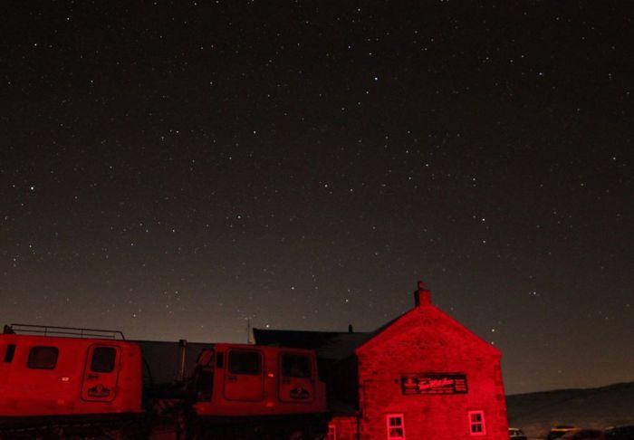 The Tan Hill Inn at night