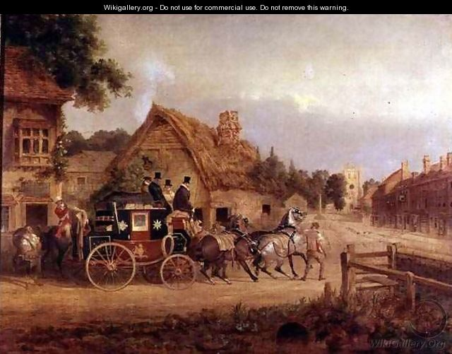 'York to London stagecoach setting off' by Charles Cooper Henderson (1803-1877) from http://www.wikigallery.org/ Creative Commons licence
