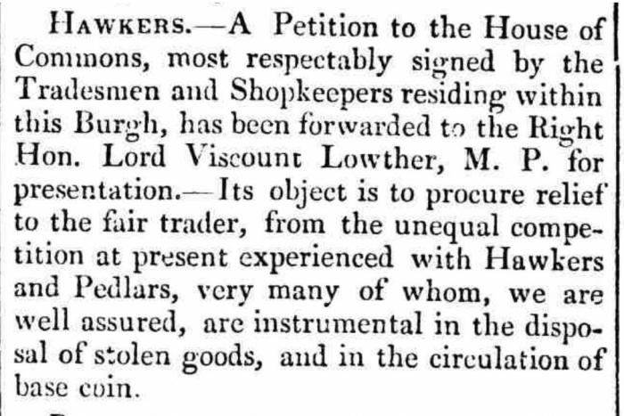 The Westmorland Gazette - Saturday 01 March 1823.  Newspaper image © The British Library Board. All rights reserved. With thanks to The British Newspaper Archive (https://www.britishnewspaperarchive.co.uk/).