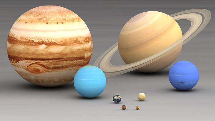 Image of the planets in the solar system