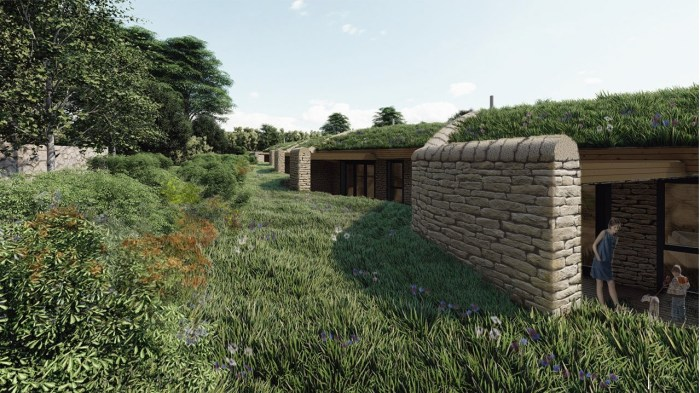 Trail Architects' view of new hotel at Linton Camp