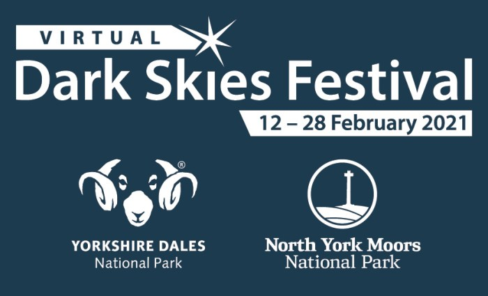 Dark Skies Virtual Festival 2021 with YDNP and NYM Logo Banner