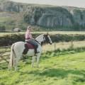 New YDNPA Member Liz Hall rides near Kilnsey Crag