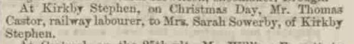 Westmorland Gazette - Saturday 09 December 1848. Newspaper image © The British Library Board. All rights reserved. With thanks to The British Newspaper Archive (https://www.britishnewspaperarchive.co.uk/).