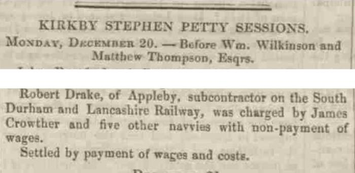Westmorland Gazette - Saturday 25 December 1858. Newspaper image © The British Library Board. All rights reserved. With thanks to The British Newspaper Archive (https://www.britishnewspaperarchive.co.uk/).