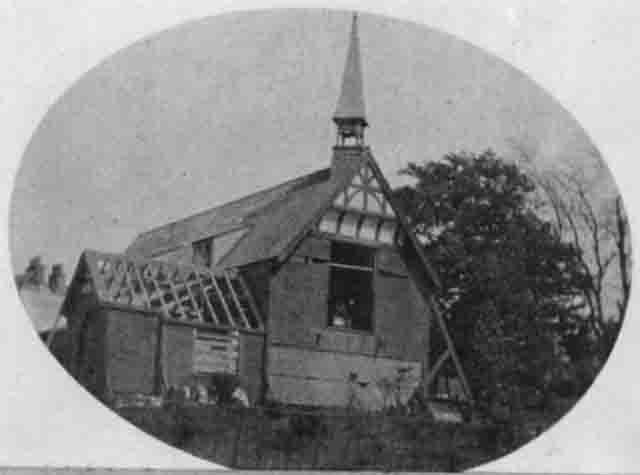 Sedbergh Chapel being dismantled c1899. Courtesy of Heather Ballantyne