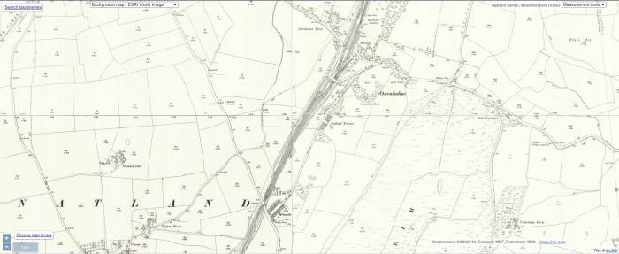 """Helmside and Oxenholme. OS 25"""" 1898. National Library of Scotland CC-BY-NC-SA"""