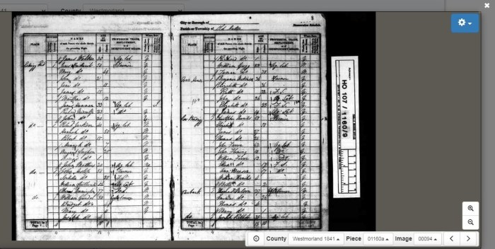 Joseph Ratliff (bottom right) Old Hutton 1841 census. © Crown Copyright Images reproduced by courtesy of The National Archives, London, England. www.NationalArchives.gov.uk & www.TheGenealogist.co.uk