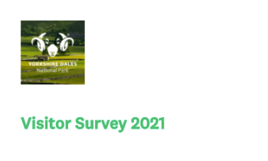 The National Park logo with the visitor survey title that is linked to take you to the 2021 visitor survey
