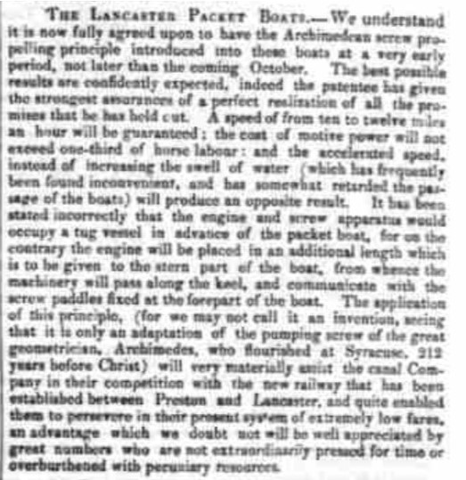 Westmorland Gazette - Saturday 01 August 1840.  Newspaper image © The British Library Board. All rights reserved. With thanks to The British Newspaper Archive (https://www.britishnewspaperarchive.co.uk/).