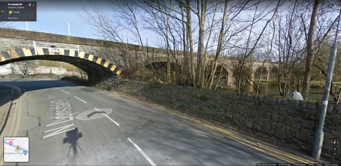 Six Arches Bridge, Ulverston. From Google Street View