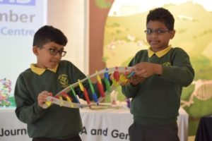 Children taking part in Genomics workshop
