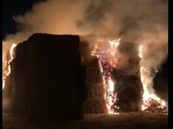 The fire at the Pink Pig Farm.