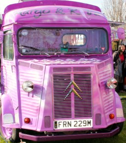Purple Street Food Traders Van