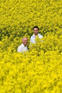 Farmers in Yorkshire Rapeseed Oil Field