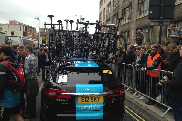 Team car of the Team Sky Tour de France team