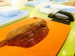 Flat fish ready for prep at Ashburton