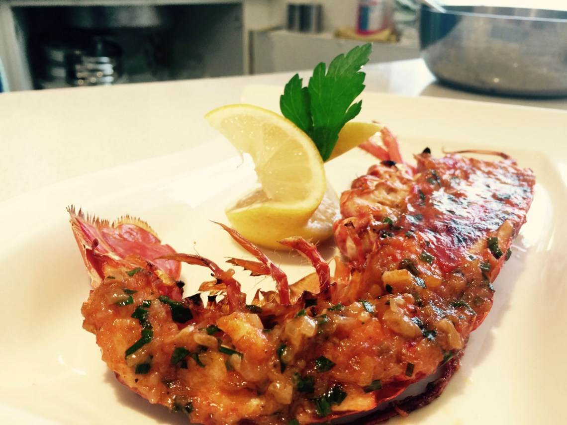 Lobster oven cooked at Ashburton