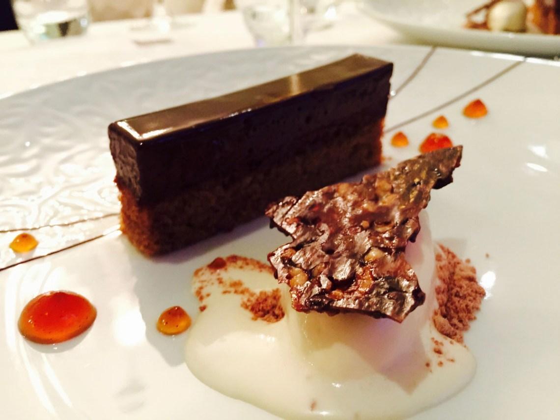 dessert at the black swan