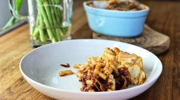 Baked Mac and Cheese with Beef Brisket Ragu
