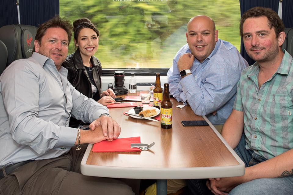 Bloggers York on a fork and a mummy too with chris blackburn and james martin