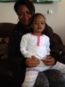 Michelle James, 39 and daughter Amaya, 2, enjoy the final Little Voices workshop.