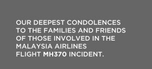 Statement on the home page of Malaysia Airlines website