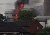 Ferrybridge Power Station fire. Picture courtesy of @sammyholmes3