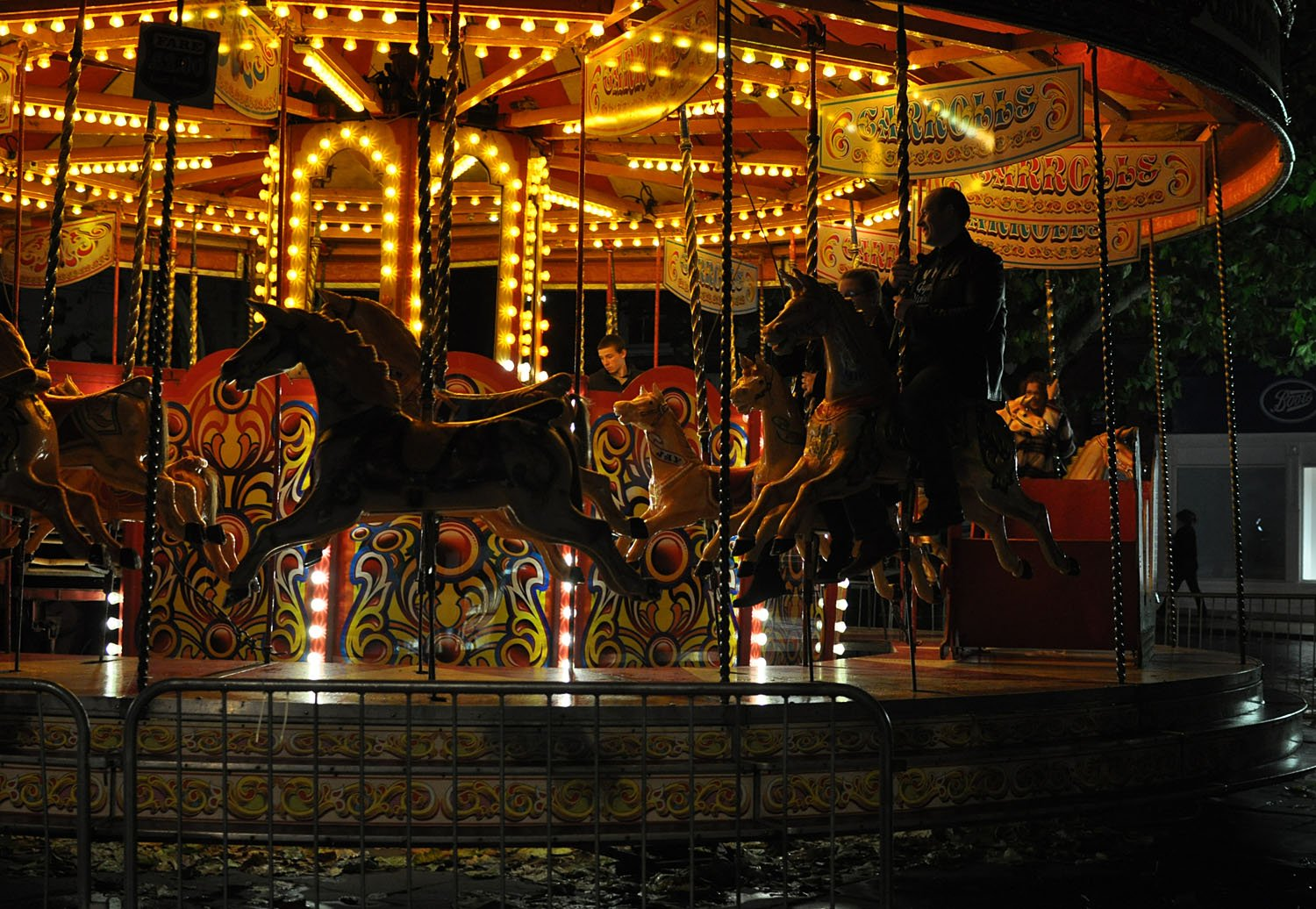 Illuminating York 2015 - The Carousel in Davygate