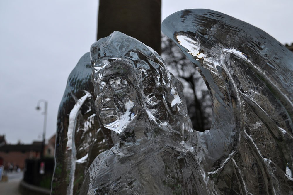 Ice Sculpture - Angel - near York Minster