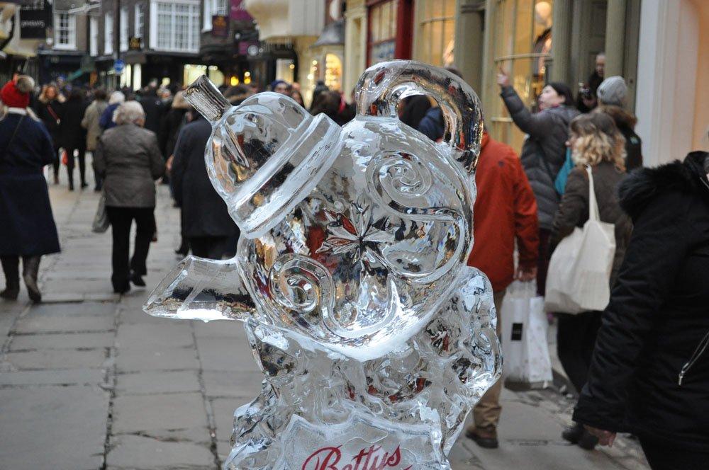 Ice Sculpture - Betty's Tearoom Tea Pot  - York
