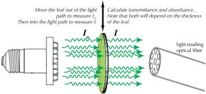 diagram explaining how transmittance measurements are made